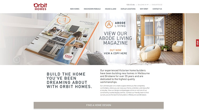 Digital Marketing Portfolio - Orbit Homes
