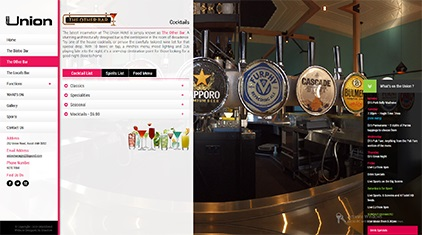 Website Design & Development Portfolio - The Union Hotel