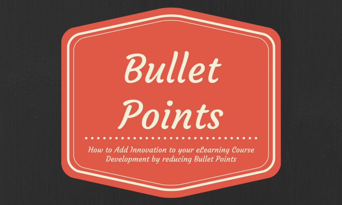 Elearning course development by reducing bullet points