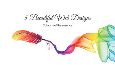 5 Beautiful Web Designs – Colour Is Of the Essence