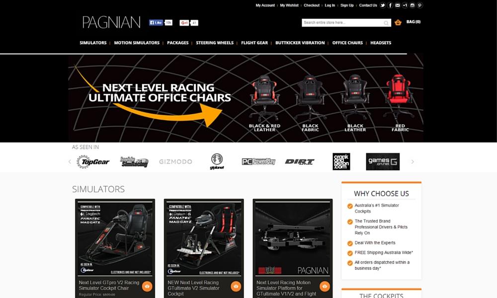 Racing Simulator Web Design