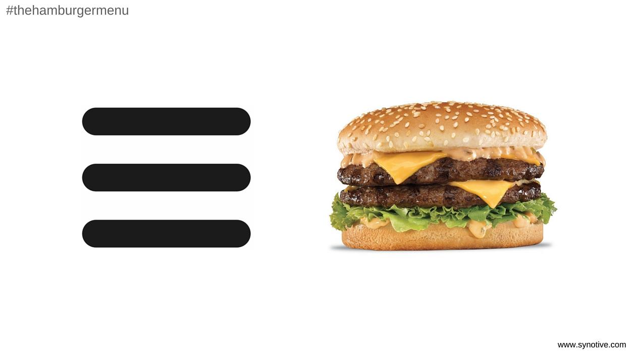 The Hamburger Menu