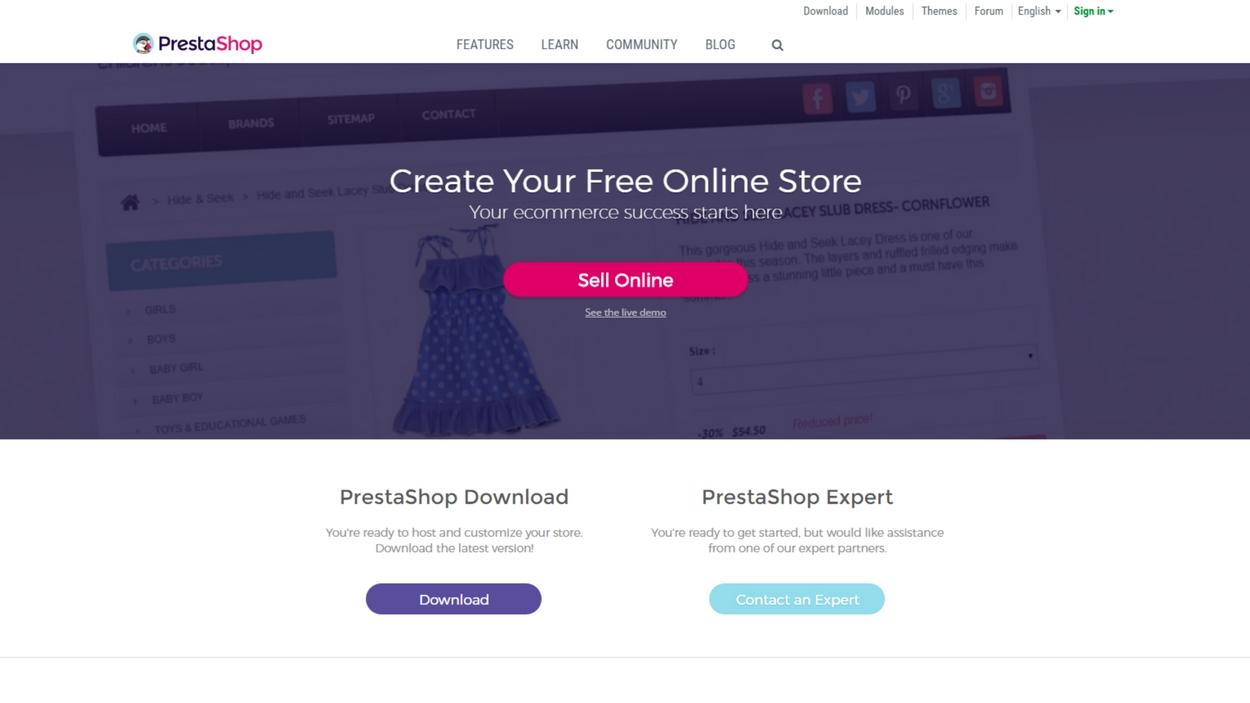 PrestaShop eCommerce Platform